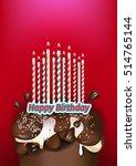 birthday cake | Shutterstock .eps vector #514765144