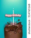 birthday cake | Shutterstock .eps vector #514765168