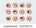 jewish holiday hanukkah donut... | Shutterstock . vector #514765174