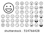 set of different smiley icons | Shutterstock .eps vector #514766428