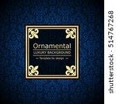retro color luxury vintage... | Shutterstock .eps vector #514767268