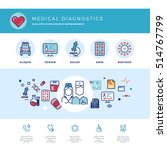 medical diagnostics  medicine... | Shutterstock . vector #514767799