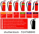 vector fire extinguisher... | Shutterstock .eps vector #514768840