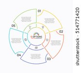 thin line pie chart infographic ... | Shutterstock .eps vector #514771420