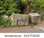 Collapsed Granite Stone Gate...