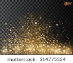 gold glittering star dust trail ... | Shutterstock .eps vector #514775524