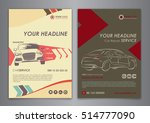 set a5  a4 service car business ... | Shutterstock .eps vector #514777090