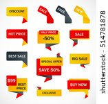 vector stickers  price tag ... | Shutterstock .eps vector #514781878