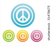 set of 4 colorful peace signs | Shutterstock .eps vector #51478675