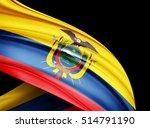 ecuador  flag of silk with...   Shutterstock . vector #514791190