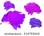 purple oil paint spot isolated... | Shutterstock . vector #514793410