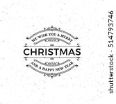 vector merry christmas label....   Shutterstock .eps vector #514793746