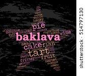 baklava. word cloud  star ... | Shutterstock .eps vector #514797130