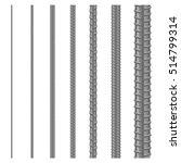 set of seamless steel rebars ... | Shutterstock .eps vector #514799314