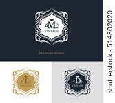 monogram design elements ... | Shutterstock .eps vector #514802020