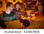 Couple Celebrating Christmas...