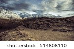 landscape of snow mountains and ... | Shutterstock . vector #514808110