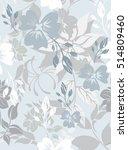 seamless flowers pattern | Shutterstock .eps vector #514809460