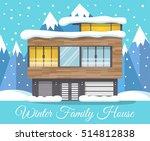 modern winter family house... | Shutterstock .eps vector #514812838