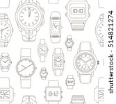 pattern of watches | Shutterstock .eps vector #514821274