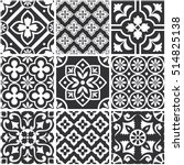 decorative monochrome tile... | Shutterstock .eps vector #514825138