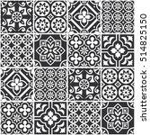 decorative monochrome tile...   Shutterstock .eps vector #514825150