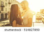 couple romantic moment on a... | Shutterstock . vector #514827850