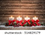 Advent Decoration With Four...