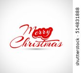 beautiful text design of merry... | Shutterstock .eps vector #514831888