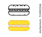 sandwich icons. vector. | Shutterstock .eps vector #514832266