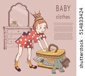 baby clothing vector... | Shutterstock .eps vector #514833424