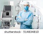 portrait of surgeon in... | Shutterstock . vector #514834810