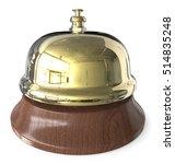 brass reception bell. 3d render ... | Shutterstock . vector #514835248