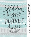 "christmas card ""holiday hugs"" ... 