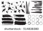 stylish grunge ink splits set....   Shutterstock .eps vector #514838380