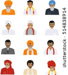 different indian old and young... | Shutterstock .eps vector #514838914