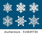 set of snowflakes. laser cut... | Shutterstock .eps vector #514839730