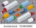 commercial cargo truck... | Shutterstock .eps vector #514842880