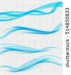 set of abstract blue wave set... | Shutterstock . vector #514850833