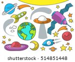 cute illustration of outer... | Shutterstock .eps vector #514851448