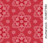seamless pattern snowflakes and ... | Shutterstock .eps vector #514857580