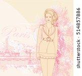 beautiful women shopping in... | Shutterstock . vector #514857886