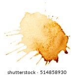 Coffee Stains Isolated On Whit...