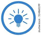 light bulb rubber seal stamp... | Shutterstock .eps vector #514860199