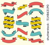 set of retro ribbons and banners   Shutterstock .eps vector #514863190