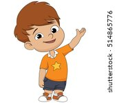 cute kid welcome.vector and... | Shutterstock .eps vector #514865776