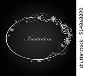 decorative silver frame with... | Shutterstock .eps vector #514868890
