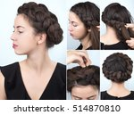 tutorial photo step by step of... | Shutterstock . vector #514870810