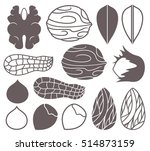 nut icon set. abstract nuts on... | Shutterstock .eps vector #514873159