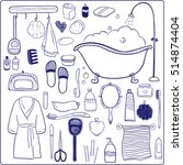 set of hand drawn  icons.... | Shutterstock . vector #514874404